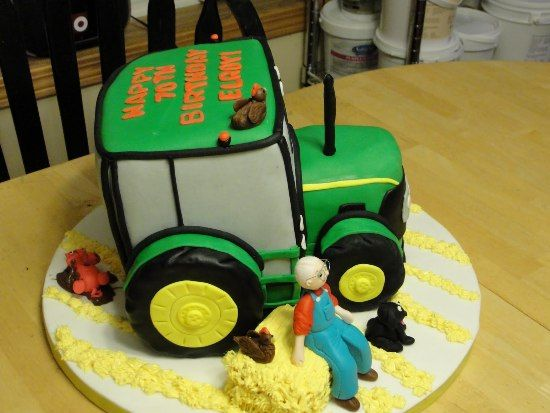 Funny Tractor Cake