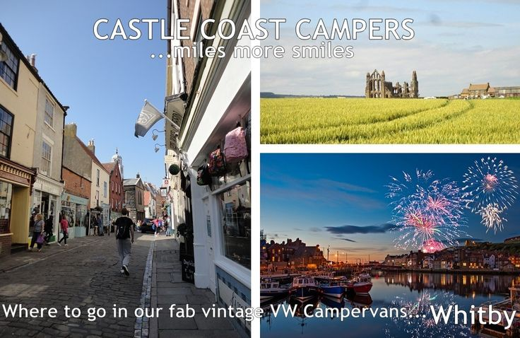 Where to go in our fab Campervans...  #Whitby, North #Yorkshire  With its quaint cobbled streets, historic Abbey and romantic bars and restaurants, Whitby is perfect for any occasion. The North Yorkshire Moors Railway is on the doorstep, there are the famous Goth #Weekends and Clarkson, Hammond and May will be filming in Whitby in October - a Star in a Reasonably Priced Camper?!  To book your #Autumn #vintage VW #Campervan break email: hello@castlecoastcampers.co.uk
