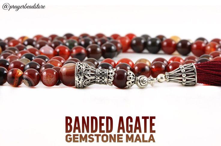 High grade agate gemstone meditation mala. #mala #meditation #agate