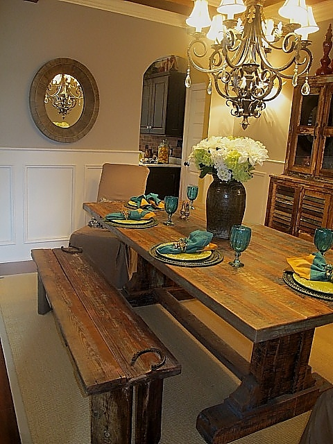 Reclaimed Barnwood Table By Jenny Blalock, Luxe Homes U0026 Design, French  Country, Knoxville