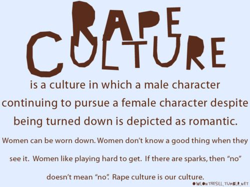 And a definition of rape culture. A good one, too.