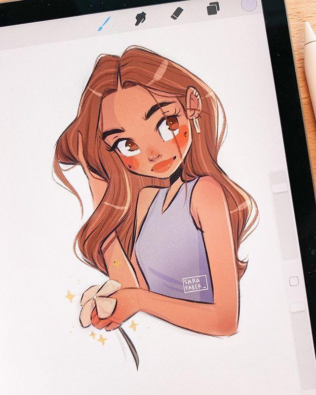 Sara Faber En Instagram Saturdays Sketch Ipadpro Procreate Warmupsketch Drawing Characterd In 2020 Girls Cartoon Art Cartoon Girl Drawing Cartoon Art Styles