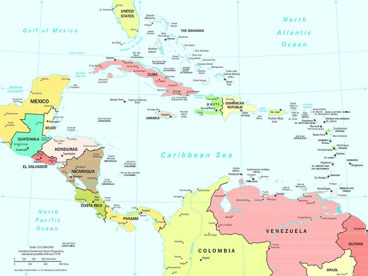 Ide Terbaik Latin America Political Map Di Pinterest Amerika - Political map el salvador