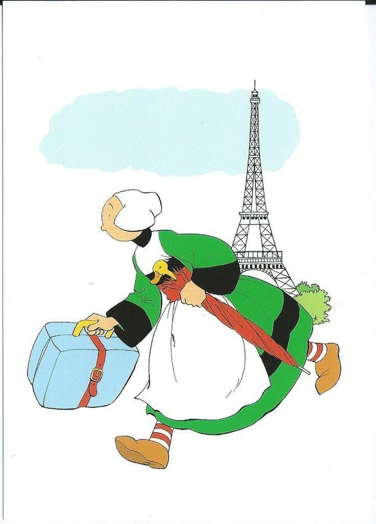 BECASSINE postcard, illustration by J.- P. Pinchon