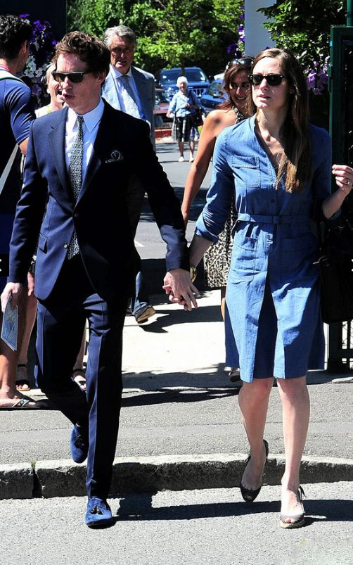 Eddie Redmayne and his fiancee Hannah Bagshawe attends the Wimbledon Open.