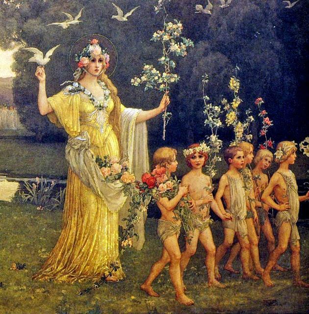 Procession of Flora - Elisabeth Sonrel