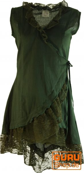 Wickeltunika MA mit Rüschen dunkelgrün / Tunikas