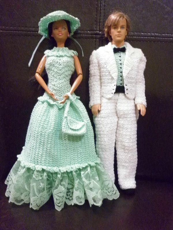 Crochet Barbie Dress & Crochet Ken Tuxedo