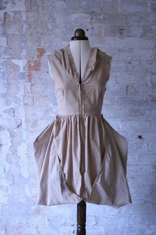 Upcycled Bed Sheet Dress