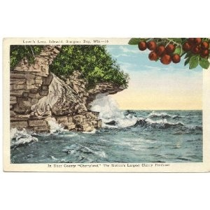 Vintage Postcard - Lover\u0027s Leap Idlewild - in Door County - Sturgeon Bay Wisconsin  sc 1 st  Pinterest & 33 best Door County Post Cards images on Pinterest   Door county ...