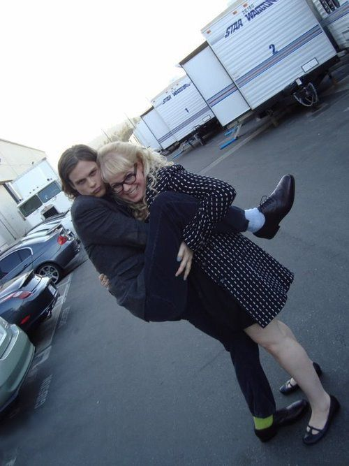 Matthew Gray Gubler & Kirsten Vangsness! Hahahahaha I basically just love the entire criminal minds cast