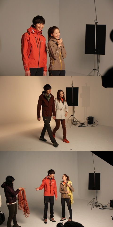 Girls' Generation's YoonA and Lee Min Ho shoot for 'Eider'