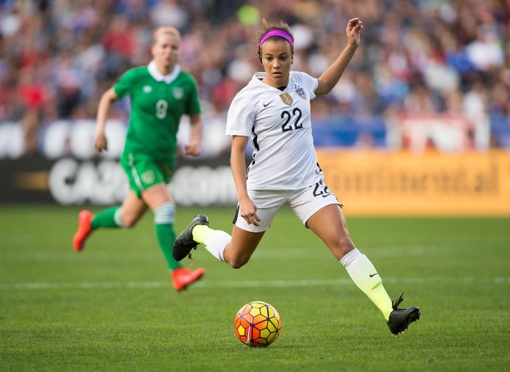 Mallory Pugh. (U.S. Soccer) A goal in her first cap she's gonna be awesome in the Olympics ⚽️⚽️⚽️