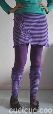 Skirt and leg warmers from a sweater