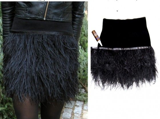 DIY feather skirt. (like ill ever do it..)