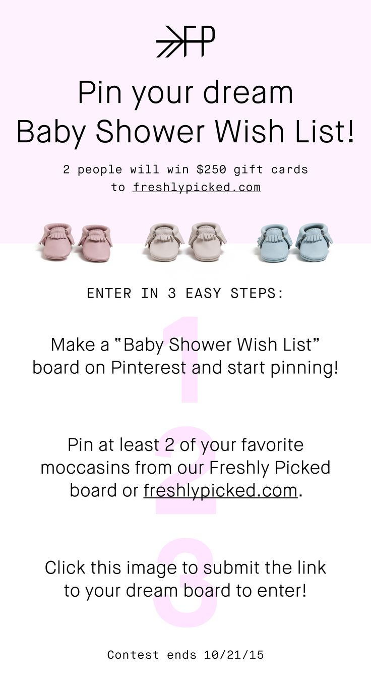 Follow The Directions Above And Then Click The Pin To Submit Your Board URL  To Enter. Baby Shower ...