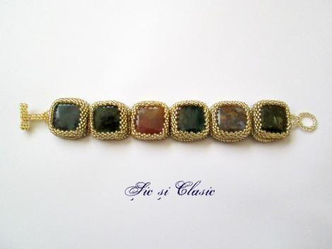 haute couture designer Adelina Maries http://sicsiclasic.wordpress.com Gemstones bracelet Sic si Clasic