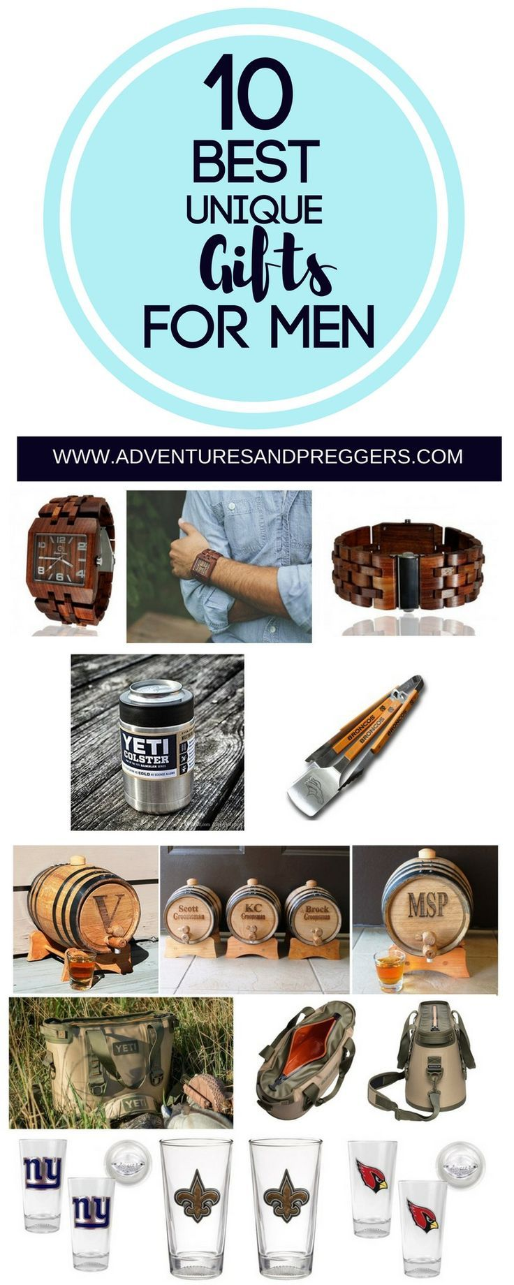 Unique Gift ideas for men.  Pin for holiday gift ideas!