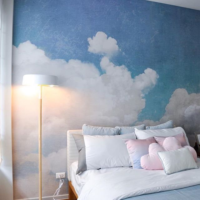 Dreamy pastels bedroom. Installation works today at Show House Baranee Park…