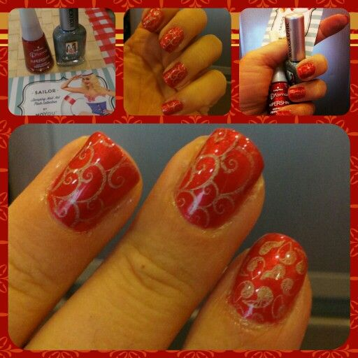 Red and holographic stamping