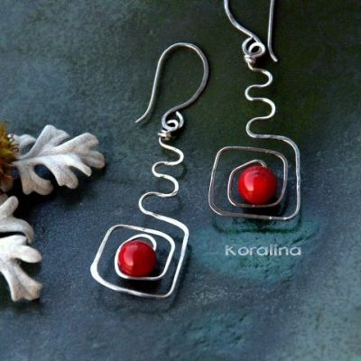 Náušnice Rebeka  steel gemstone original jewelry  lovely cute