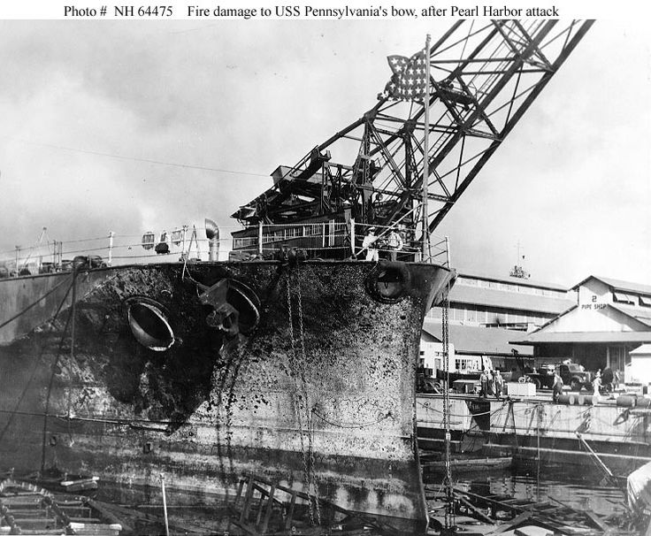 USS Pennsylvania, Cassin and Downes during the Pearl Harbor Attack