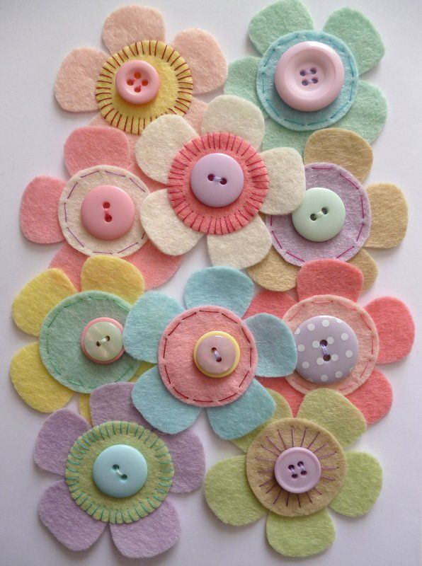 felt flowers | paper-and-string. Felt Flower Craft Pack :: Pastel