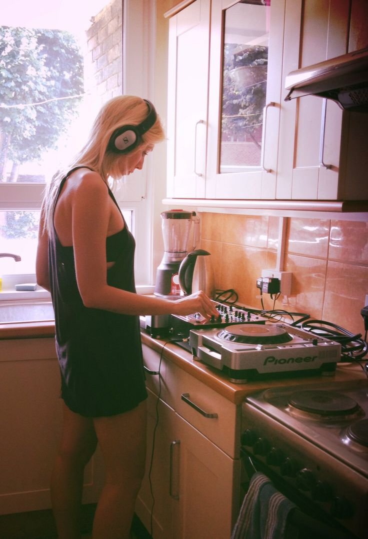 at home practising on the decks