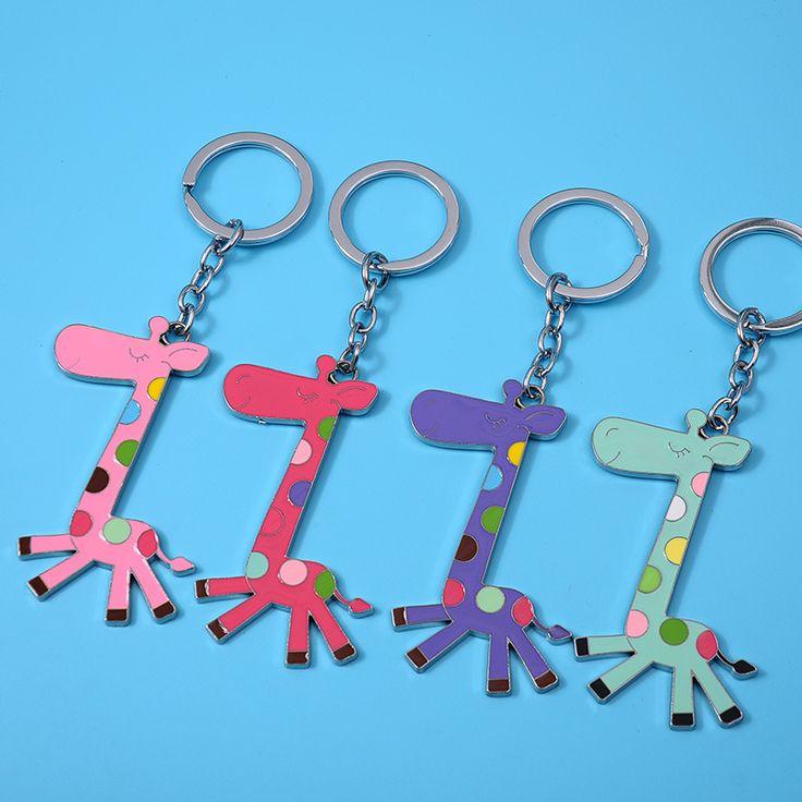 Giraffe Keychain Yeezy Cute Animal Key Cover Holder Handbag Bag Charms Fashion Car Metal Key Chain Buckle Porte Clefs Keyrings