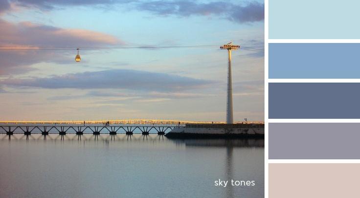 palette - sky tones