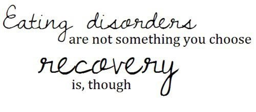 Eating disorders are not a choice. Recovery is.