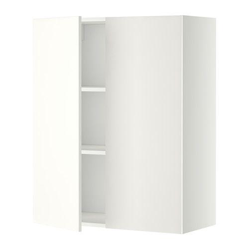 METOD Él mur tbls/2p - blanc, 80x100 cm, Häggeby blanc - IKEA