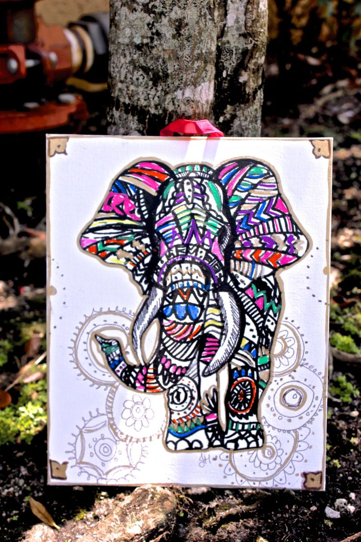 The 25+ best ideas about Tribal Elephant Drawing on ...