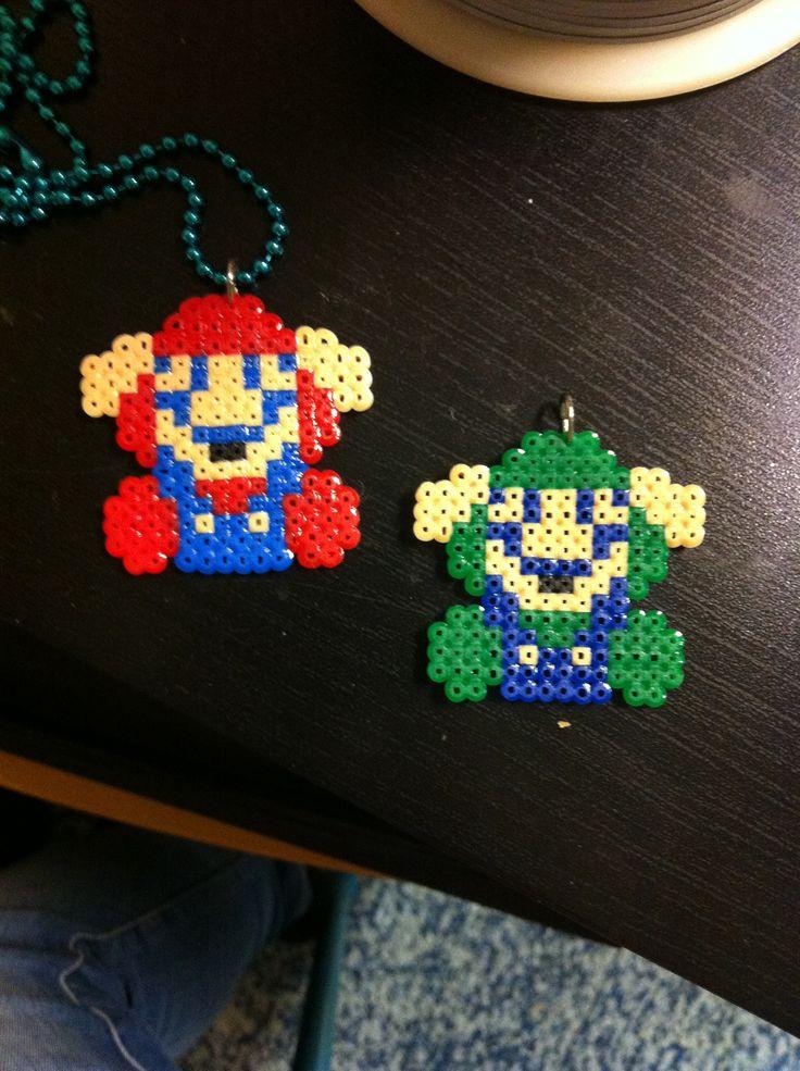 Game over Mario & Luigi hama beads