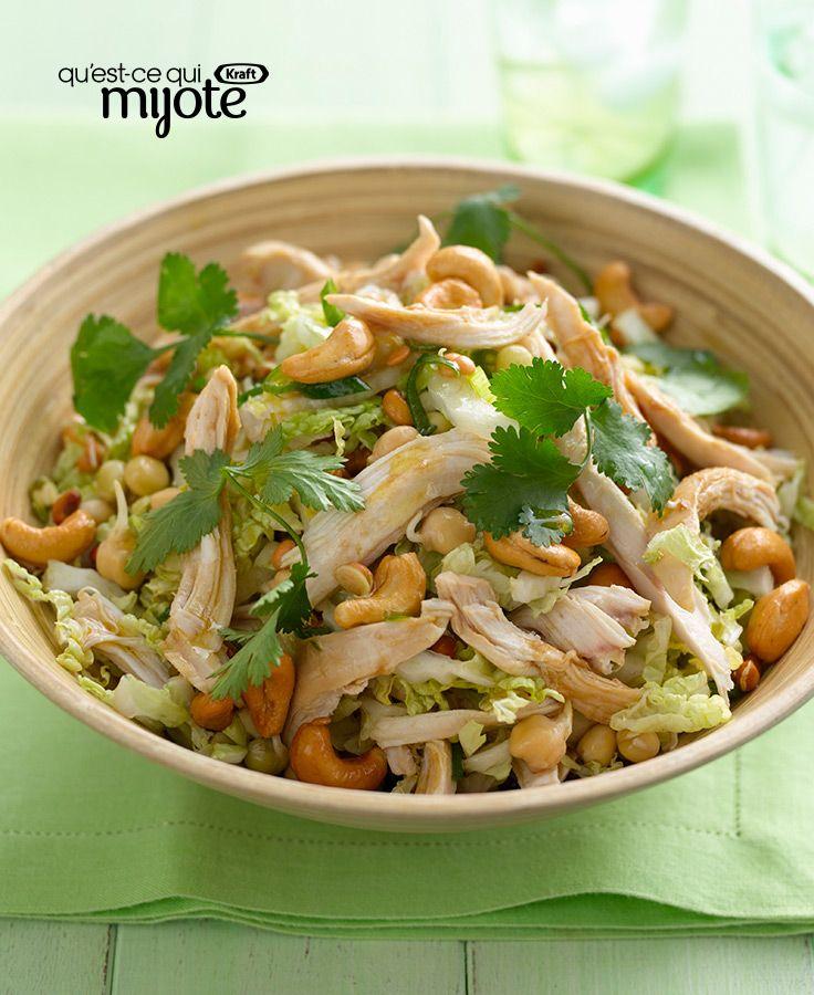 Salade asiatique au poulet et aux noix de cajou #recette