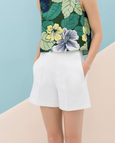 HIGH-WAIST STRUCTURED SHORTS zara 30