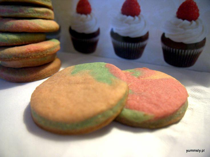 Kruche #Ciastka Przepis #Ombre #cookies