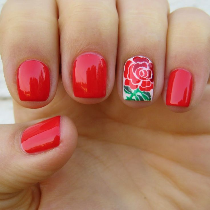 England Rugby Nail Art