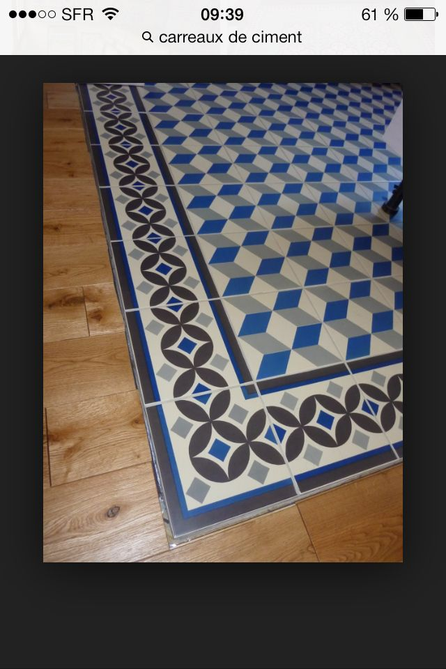Tapis carreaux ciment parquet