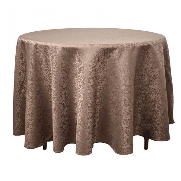 Marvelous Round Shimmering Filigree Tablecloth Chocolate ❤ Liked On Polyvore  Featuring Home, Kitchen