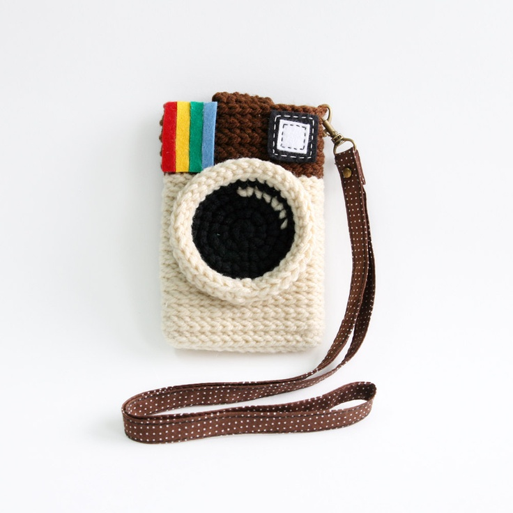 Instagram iPhone Case, via Etsy. Super cute use of #crochet!