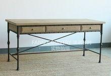 Американский в стиле кантри утюг стол чердак антикоррозийная сделать старый деревянный стол стол стол(China (Mainland))