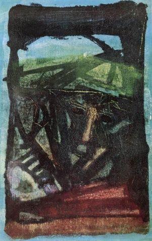 Béla Kondor - Head in Green