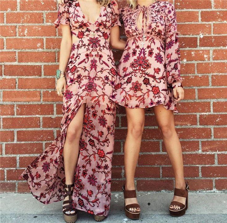 Женщины Любят Закат Шелковый Атлас Выгорания Цветочные Шафран Mini Dress с длинным Рукавом Строки Fit Mini Dress Открытым Декольте Sexy Party Dress купить на AliExpress
