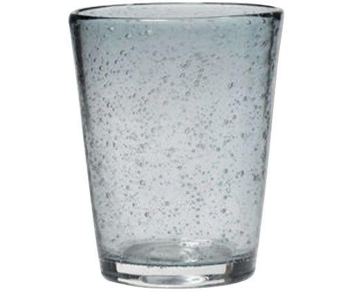 Mundgeblasenes Wasserglas Bubble, Transparent
