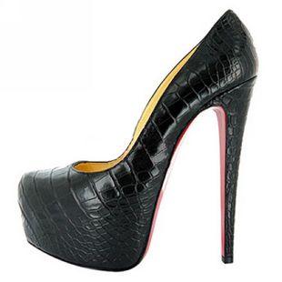 Aliexpress.com : Buy 14cm 16cm Daffodil platform Pumps sheepskin waterproof red  bottom shoes sole