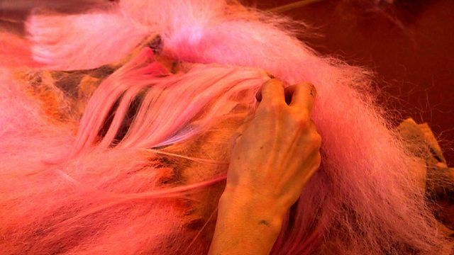 Image for Making a pink wookie costume Marvin Gaye Chetwynd, bbc4 What do Artists do all day.