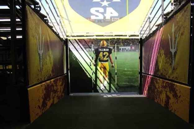 When Arizona State takes the field Thursday to open the season vs. Sacramento State they'll be led out of the tunnel by Pat Tillman. | Arizona State Football's Pat Tillman Tunnel Will Give You Chills