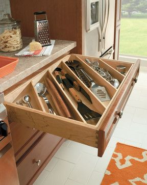 Cutlery Utensil Divider - traditional - cabinet and drawer organizers - other…