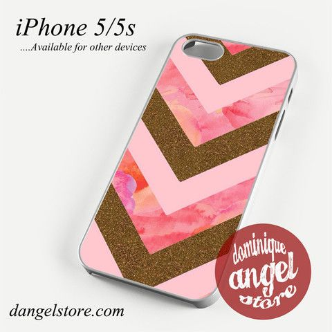 Awesome Pink Gold Glitter Chevron Phone case for iPhone 4/4s/5/5c/5s/6/6 plus